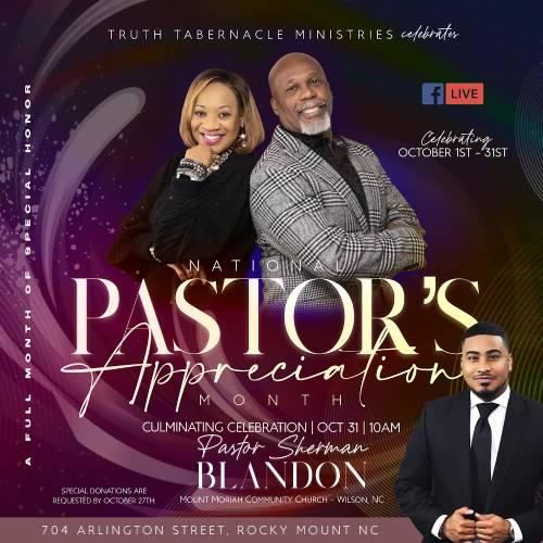 National Pastor's Appreciation Month
